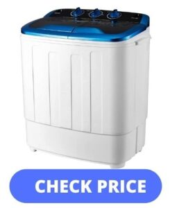 Best-compact-washer-and-dryer-combo-HOMHUM Portable Mini Compact Twin Tub