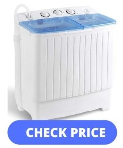 SUPER DEAL 2IN1 Mini Compact Twin Tub Washing Machine