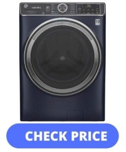 GE Sapphire Blue Smart Front Load Energy Star Steam Washer
