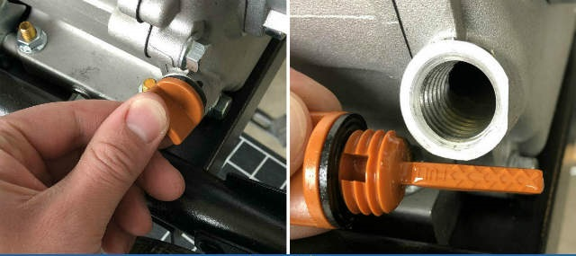 Pressure washer Engine Oil & Fuel Level