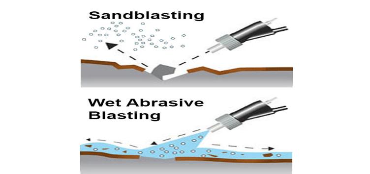 wet vs dry sandblasting